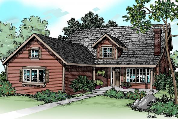 Country House Plan - Marion 30-174 - Front Elevation