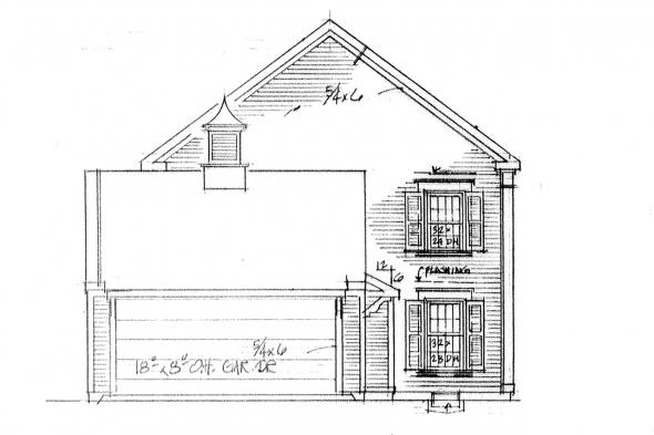 Country House Plan - Maumee 42-007 - Left Elevation