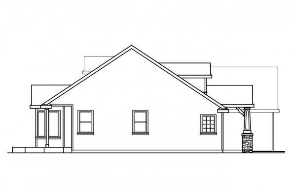 Country House Plan - Maxwell 30-458 - Left Elevation