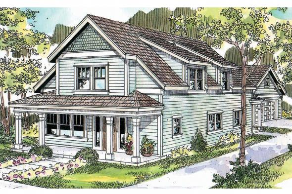 Country House Plan - Mayberry 30-619 - Front Elevation