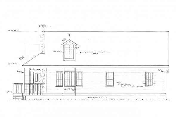 Country House Plan - Mazaruni 41-007 - Right Elevation