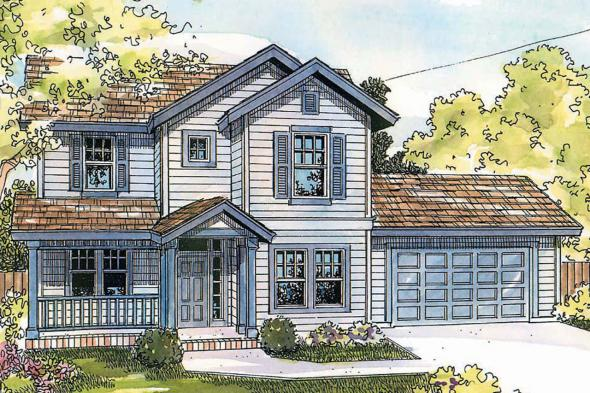 Country House Plan - McKinnon 30-420 - Front Elevation