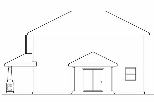 Country House Plan - Molalla 30-685 - Right Elevation