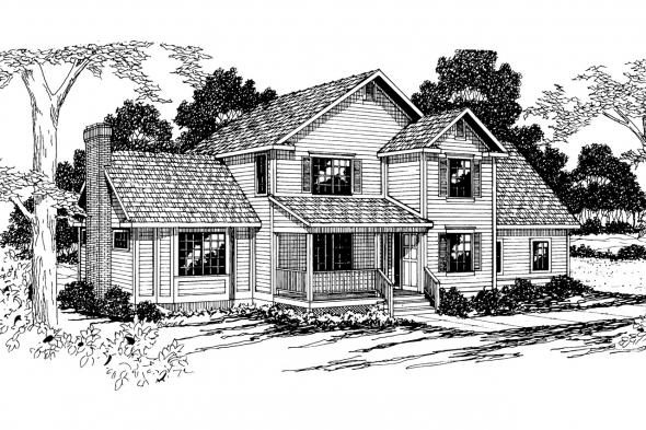Country House Plan - Olympia 10-210 - Front Elevation