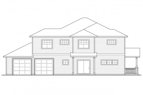 Country House Plan - Parkridge 60-035 - Left Elevation