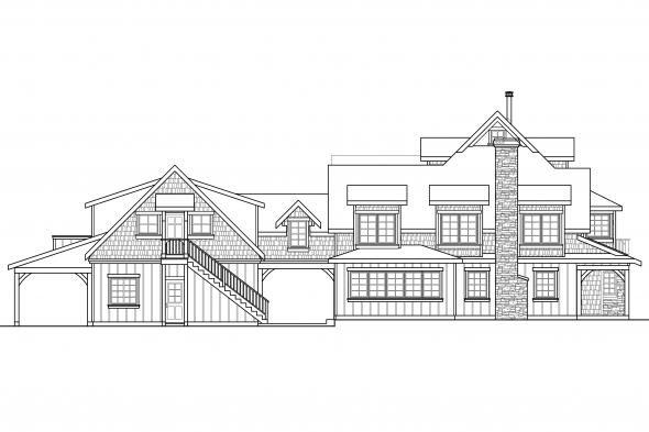 Country House Plan - Petersfield 30-542 - Right Elevation
