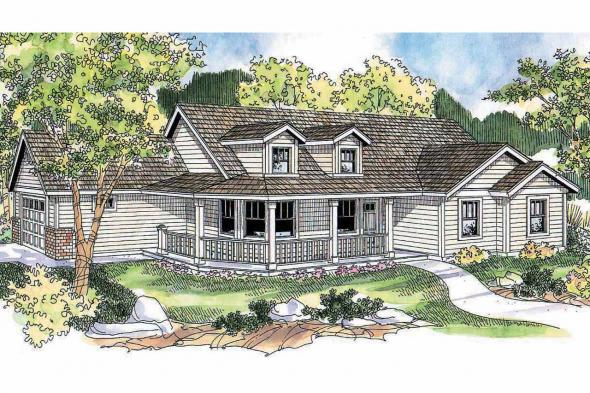 Country House Plan - Peterson 30-625 - Front Elevation