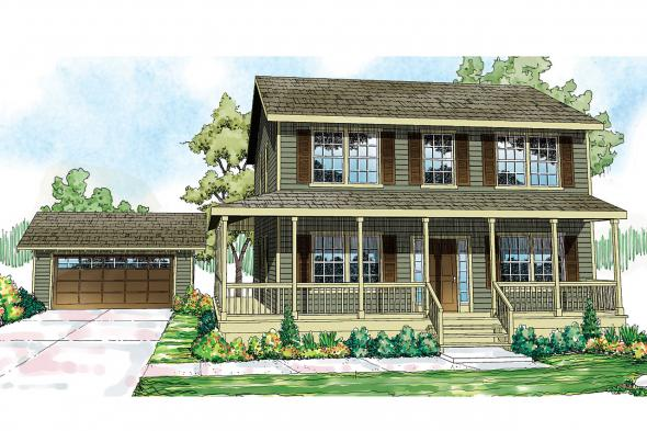 Country House Plan - Pine Hill 30-791 - Front Elevation