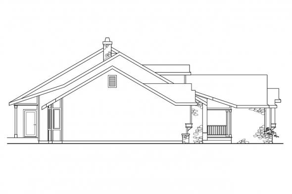 Country House Plan - Rainier 10-303 - Left Elevation