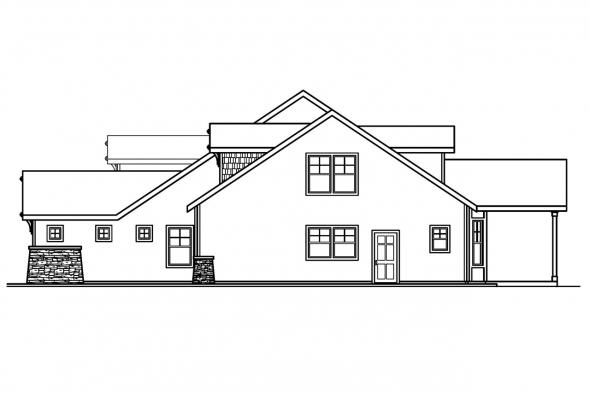 Country House Plan - River Glen 30-223 - Right Elevation