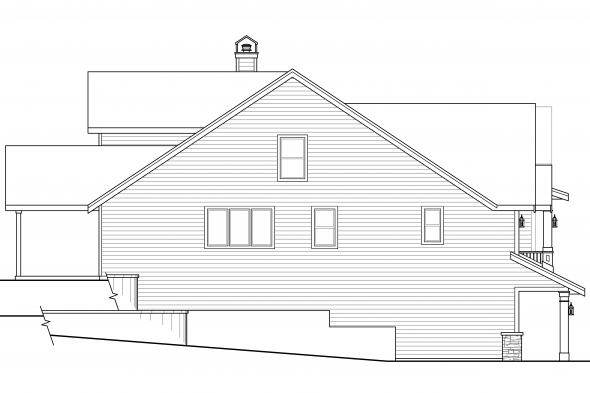 Country House Plan - Springvale 30-950 - Left Elevation