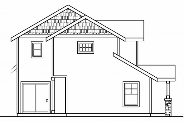 Country House Plan - Stapleton 30-478 - Left Elevation