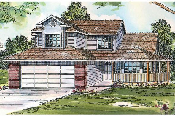 Country House Plan - Susanville 30-114 - Front Elevation