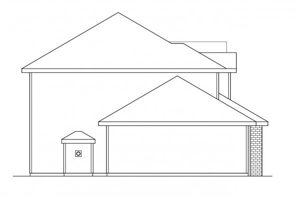 Country House Plan - Westhaven 30-173 - Left Elevation