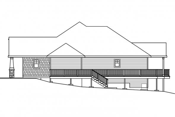 Country House Plan - Worthington 30-594 - Right Elevation