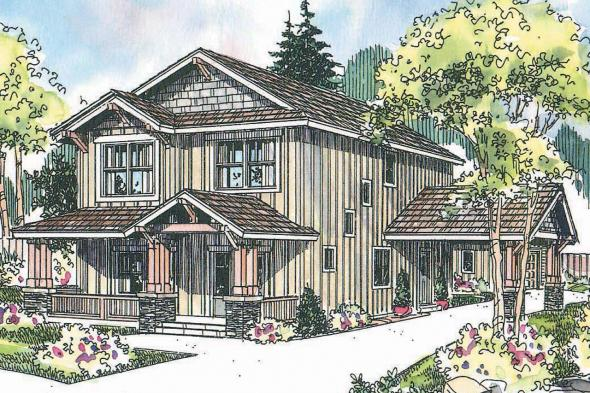 Craftsman House Plan - Alderdale 30-573 - Front Elevation