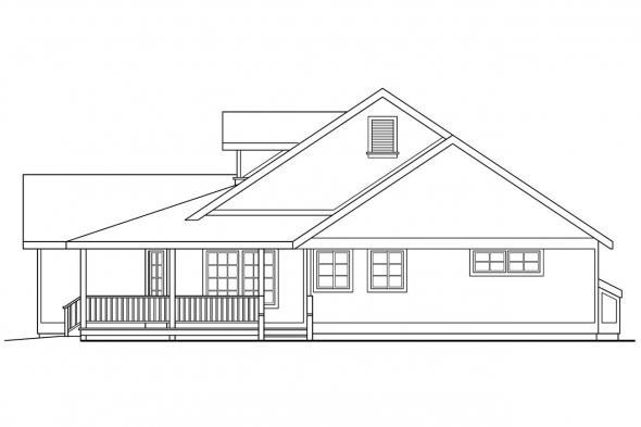 Craftsman House Plan - Ann Arbor 10-146 - Right Elevation