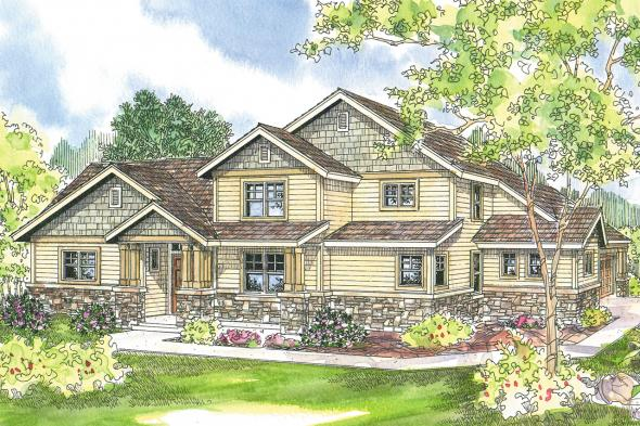 Craftsman House Plan - Awbery 30-551 - Front Elevation