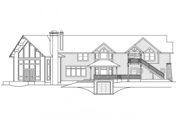 Craftsman House Plan - Bentonville 30-275 - Left Elevation