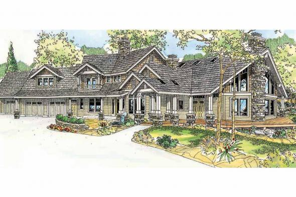 Craftsman House Plan - Brookport 30-692 - Front Elevation
