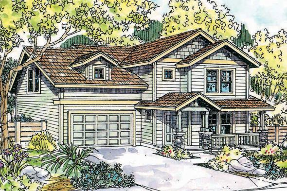 Craftsman House Plan - Calhoun 30-479 - Front Elevation