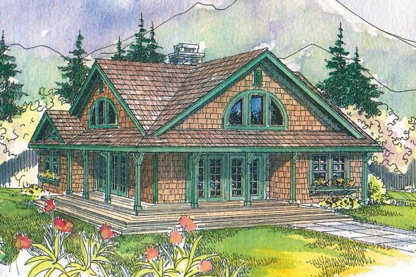Craftsman House Plan - Cedar View 50-012 - Front Elevation