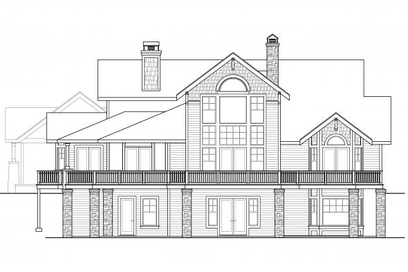 Craftsman House Plan - Colorado 30-541 - Rear Elevation