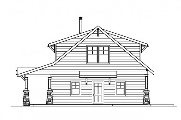 Craftsman House Plan - Dorset 30-454 - Right Elevation