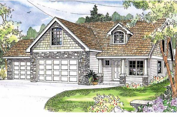 Craftsman House Plan - Eastham 30-622 - Front Elevation