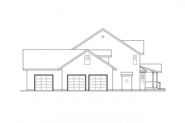 Craftsman House Plan - Eganville 30-428 - Left Elevation
