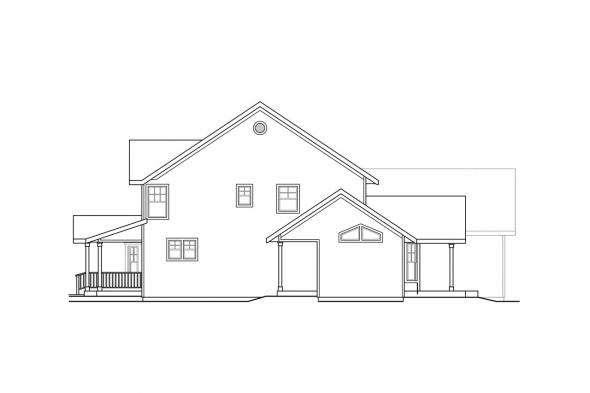 Craftsman House Plan - Eganville 30-428 - Right Elevation