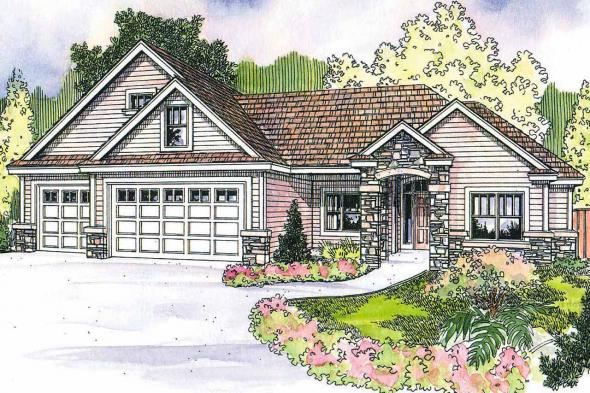 Craftsman House Plan - Elkheart 30-645 - Front Elevation
