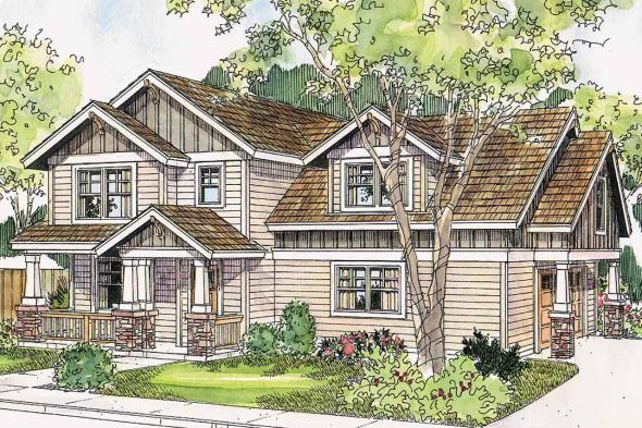 Craftsman House Plan - Elmdale 30-598 - Front Elevation