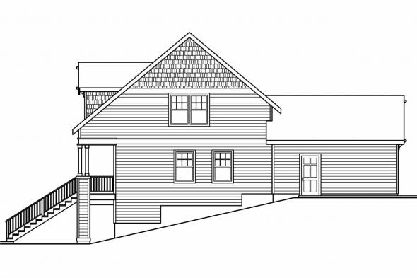 Craftsman House Plan - Fillmore 30-589 - Right Elevation