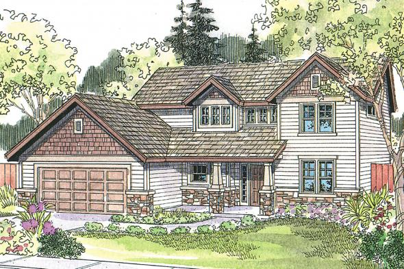 Craftsman House Plan - Garrison 30-414 - Front Elevation
