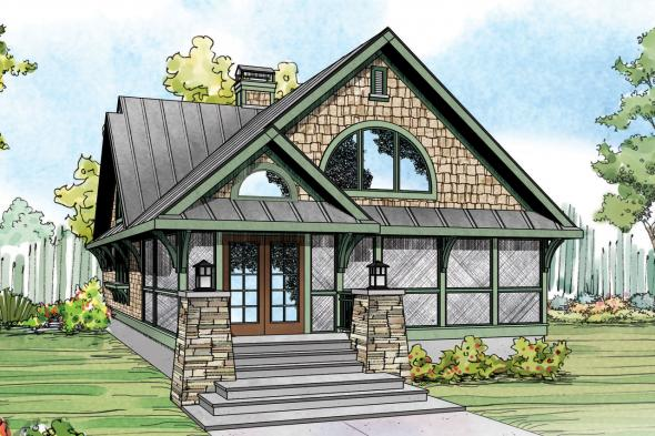 Craftsman House Plan - Glen Eden 50-017 - Front Elevation