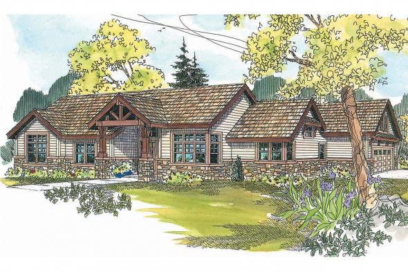 Craftsman House Plan - Inglewood 30-538 - Front Elevation