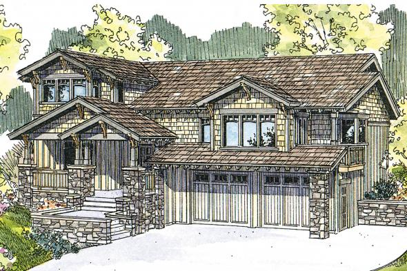 Craftsman House Plan - Kelseyville 30-476 - Front Elevation