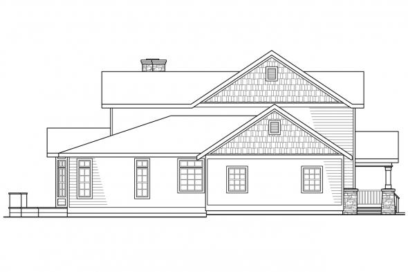 Craftsman House Plan - Kendrick 30-236 - Left Elevation