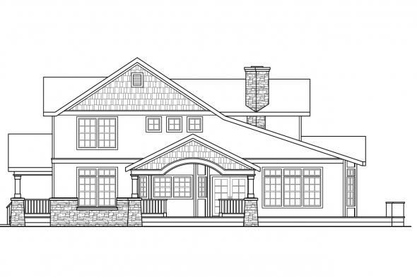 Craftsman House Plan - Kendrick 30-236 - Right Elevation