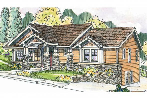 Craftsman House Plan - Keystone 30-597 - Front Elevation