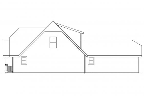 Craftsman House Plan - Lawrence 30-103 - Right Elevation