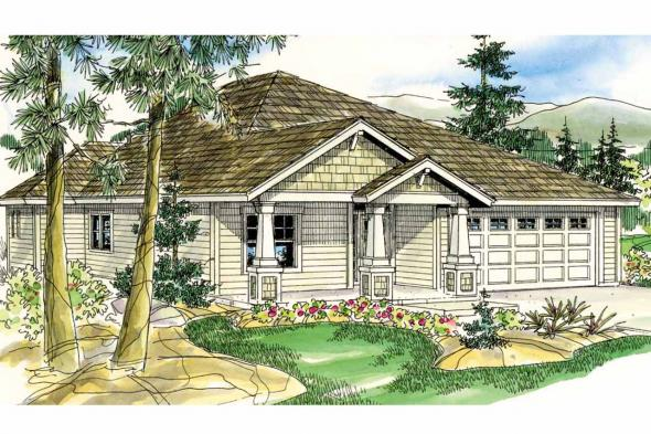 Craftsman House Plan - Logan 30-720 - Front Elevation
