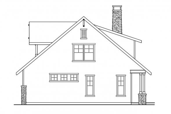 Craftsman House Plan - Mariposa 10-351 - Right Elevation