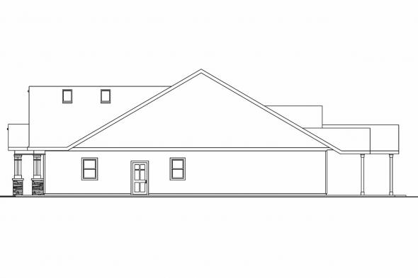 Craftsman House Plan - Maywood 30-680 - Right Elevation