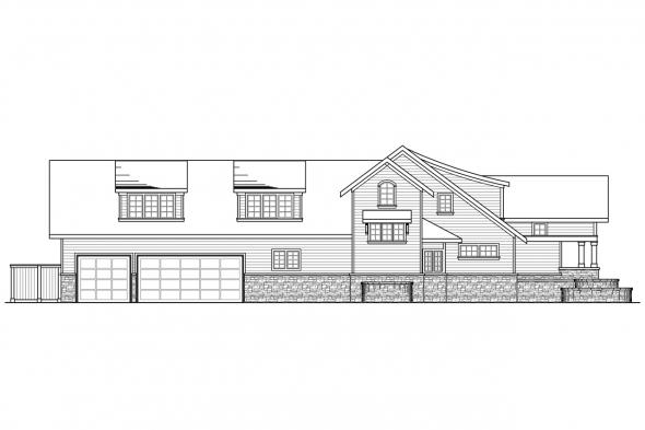 Craftsman House Plan - Oxford 30-451 - Left Elevation
