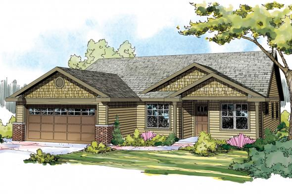 Craftsman House Plan - Pineville 30-937 - Front Elevation
