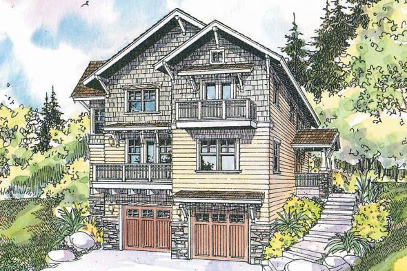 Craftsman House Plan - Ridgeview 30-496 - Front Elevation