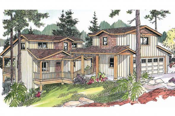 Craftsman House Plan - Roosevelt 30-603 - Front Elevation