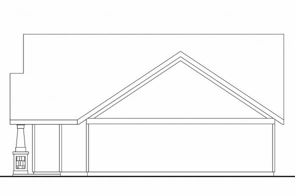 Craftsman House Plan - Spangler 30-674 - Right Elevation